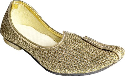Harshvardhanmart Boys & Girls Slip on Jutis(Gold)