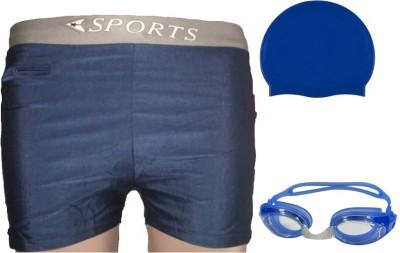 L'AVENIR Swimming Shorts, Cap   Goggles Swimming Kit