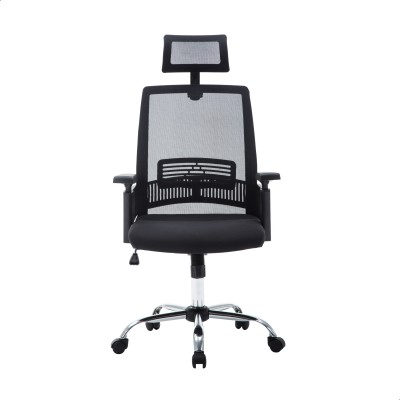 Woodness Wayne Synthetic Office Arm Chair(Black)