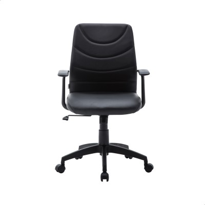 Perfect Homes by Flipkart Warren Leatherette Office Arm Chair(Black)