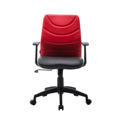 Perfect Homes by Flipkart Warren Leatherette Office Arm Chair(Red)