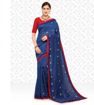 Divastri Self Design, Embroidered Fashion Silk Cotton Blend Saree