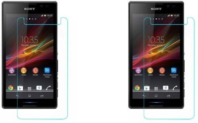 MudShi Tempered Glass Guard for Sony Xperia C(Pack of 2)