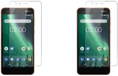 MudShi Tempered Glass Guard for Nokia2(Pack of 2)