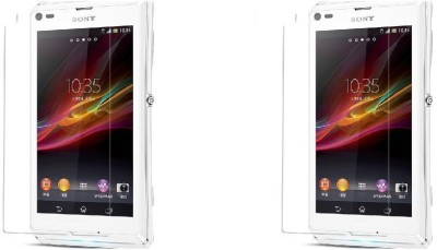 MudShi Tempered Glass Guard for Sony Xperia L(Pack of 2)