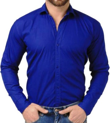 Sunshiny Men's Solid Casual Spread Shirt