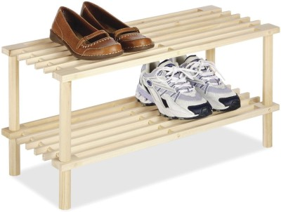 House of Quirk 4 Tier 12 Pair Stackable Bamboo Shoe Rack Bamboo Collapsible Shoe Stand(Brown)