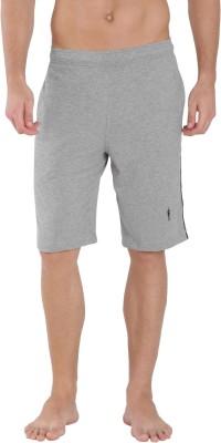 Jockey Solid Men Grey Bermuda Shorts