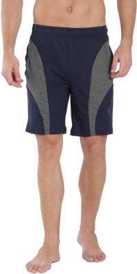 Jockey Solid Men Dark Blue Basic Shorts
