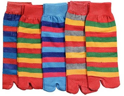 Goldstar Boys & Girls Striped Ankle Length Socks(Pack of 5)