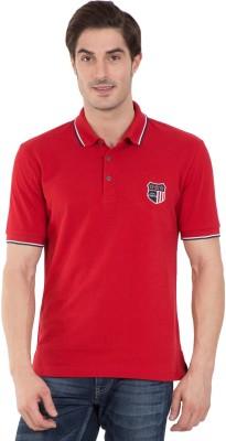 Jockey Solid Men Polo Neck Red T-Shirt