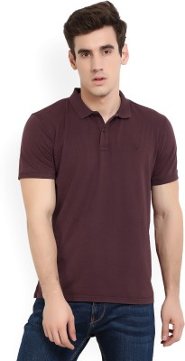 a09d31eceb Buy Solly Jeans Co Solid Men s Polo Neck Maroon T-Shirt on Flipkart ...