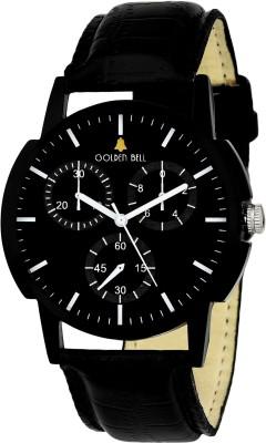 Golden Bell GB1201SL01 New Generation Original Black Dial Black Strap Analog wrist Watch  - For Men