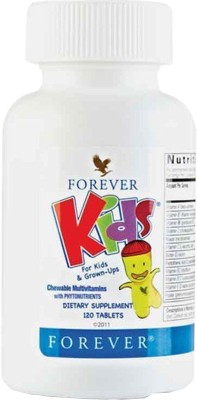 Forever Living Products KIDS, CHEWABLE TABLETS FOR KIDS (Fresh Product) Unflavored Tablets(120 g)