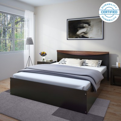 Perfect Homes by Flipkart Carol Queen Bed(Finish Color -  Wenge)