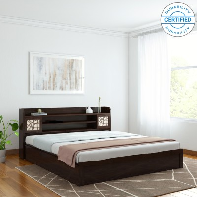 Spacewood Mayflower Engineered Wood King Bed With Storage(Finish Color -  Vermount)