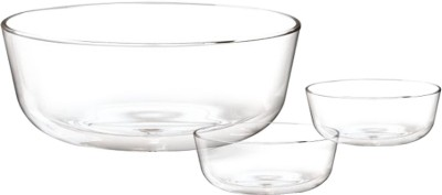 Treo Essence Bowl 7 pcs pudding set Glass Serving Bowl Clear, Pack of 7 Treo Bowls