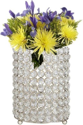 Inspiration World Hurricane Glass, Iron 1 - Cup Candle Holder(Silver, Pack of 1) at flipkart