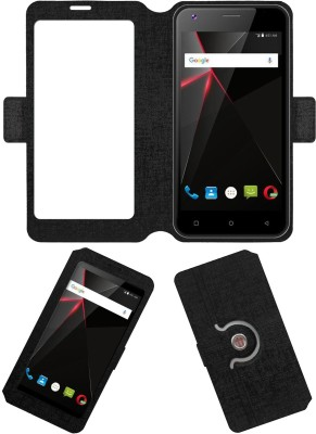 ACM Flip Cover for Swipe Elite 2 Plus 2017(Black, Cases with Holder, Artificial Leather)
