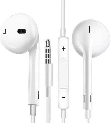 BUY SURETY Best Buy High Wired Headset with Mic(White, In the Ear)