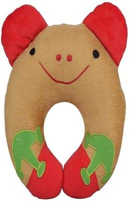 Chinmay Kids U Shape Feeding/Nursing Pillow(Brown, Red)