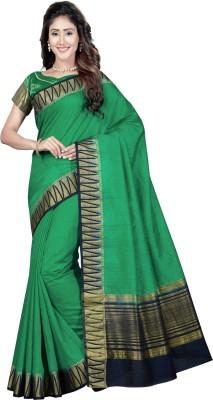 RUHIN Woven, Solid Banarasi Cotton Silk, Art Silk, Jacquard Saree(Black)