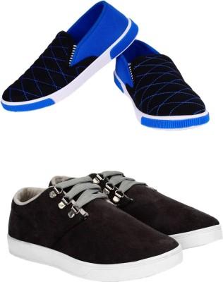 88176beea1c0ca 16% OFF on Jootiyapa Combo (Grey Canvas+ Blue Loafer) Canvas Shoes For Men(Grey)  on Flipkart