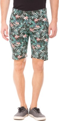 Ed Hardy Floral Print Men Multicolor Basic Shorts