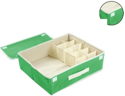 House of Quirk 15+1 Compartment Cell Foldable Storage Box type Non Smell Drawer Organizer 15 grids + 1 underwear Closet Storage for Socks Bra Tie Scar