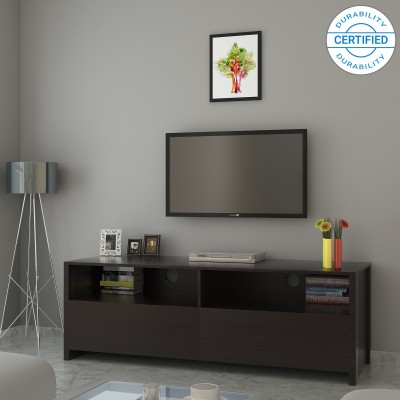 Perfect Homes by Flipkart Webster Engineered Wood TV Entertainment Unit(Finish Color - Walnut)