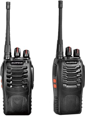 ALONZO BF-888S Two Way Radios Walkie-Talkies Long Range Handheld Radios Walkie Talkie(Black)