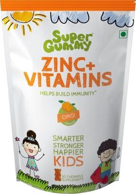 SUPER GUMMY ZINC + VITAMINS Orange Flavored Gummies(102 g)