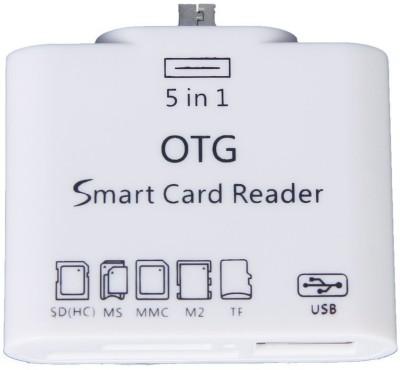 Shrih 5 in 1 OTG USB 2.0 Micro Card Reader Card Reader(White)