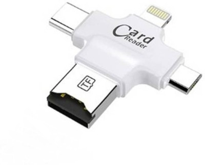 SP SHIELD PLUS 3 in 1 card reader for android, ios adapter Card Reader(white or black)