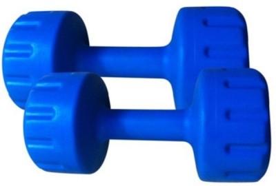 FACTO POWER BLUE COLOR 5KG VINYL PLASTIC DUMBELL Fixed Weight Dumbbell(10 kg)