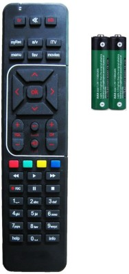VRCT Digital Tv Compatable Universal With User Manual Remote Controller Airtel Remote Controller Black