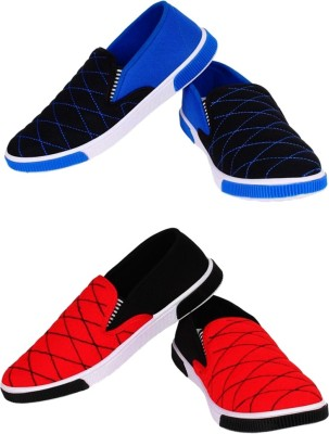 cf2a46c8b9d95 Jootiyapa Combo Loafer (Blue-Red) Loafers For Men(Blue)