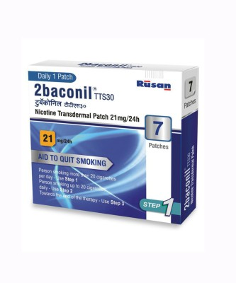 2baconil Nicotine 21 mg step 1 (7 pcs ) 24 hour patch Smoking Patch(Pack of 7)