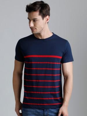 Dillinger Printed Men's Round Neck Dark Blue T-Shirt