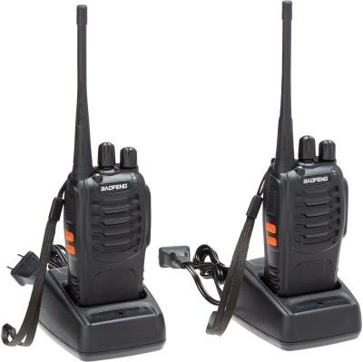 ALONZO BaoFeng BF-888S 2 Way Radios UHF Radio 400-470MHz 3W 15CH Walkie Talkies with Earpiece Walkie Talkie(Black)