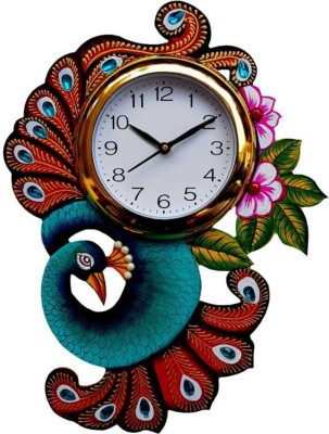 Craftonclick Analog Wall Clock(Multicolor, With Glass)