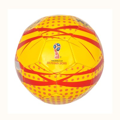 FIFA World Cup Russia Flash Football   Size: 5 Pack of 1, Red, Yellow  FIFA Footballs