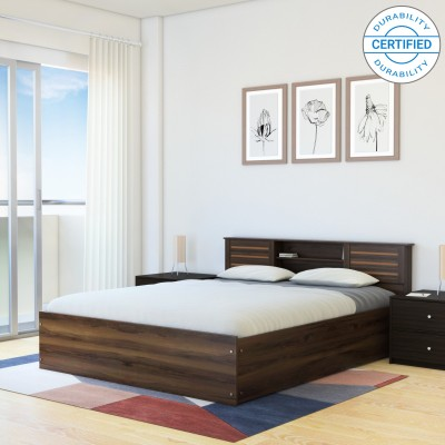 Spacewood Engineered Wood Queen Bed With Storage(Finish Color -  Vermont)