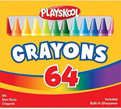 Playskool Crayons with Sharpener(Multicolor)