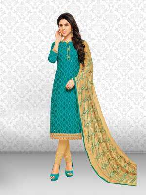 Divastri Chanderi Cotton Embroidered Salwar Suit Dupatta Material