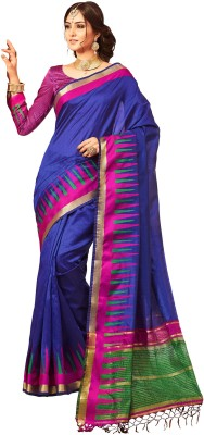 M.S.Retail Self Design Kanjivaram Silk Saree(Blue)