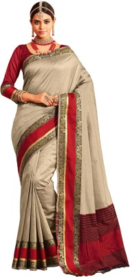 M.S.Retail Self Design Kanjivaram Silk Saree(Grey)