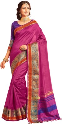 M.S.Retail Self Design Kanjivaram Silk Saree(Pink)