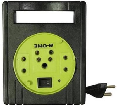 TECHSTREET TECHSTREET Eco 3 Pin Extension Cord 3 Socket Surge Protector (Black, Yellow) 3 Socket Surge Protector(Black, Yellow)