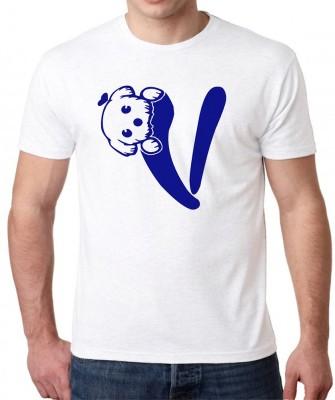 HEYUZE Printed Men's Round Neck White T-Shirt
